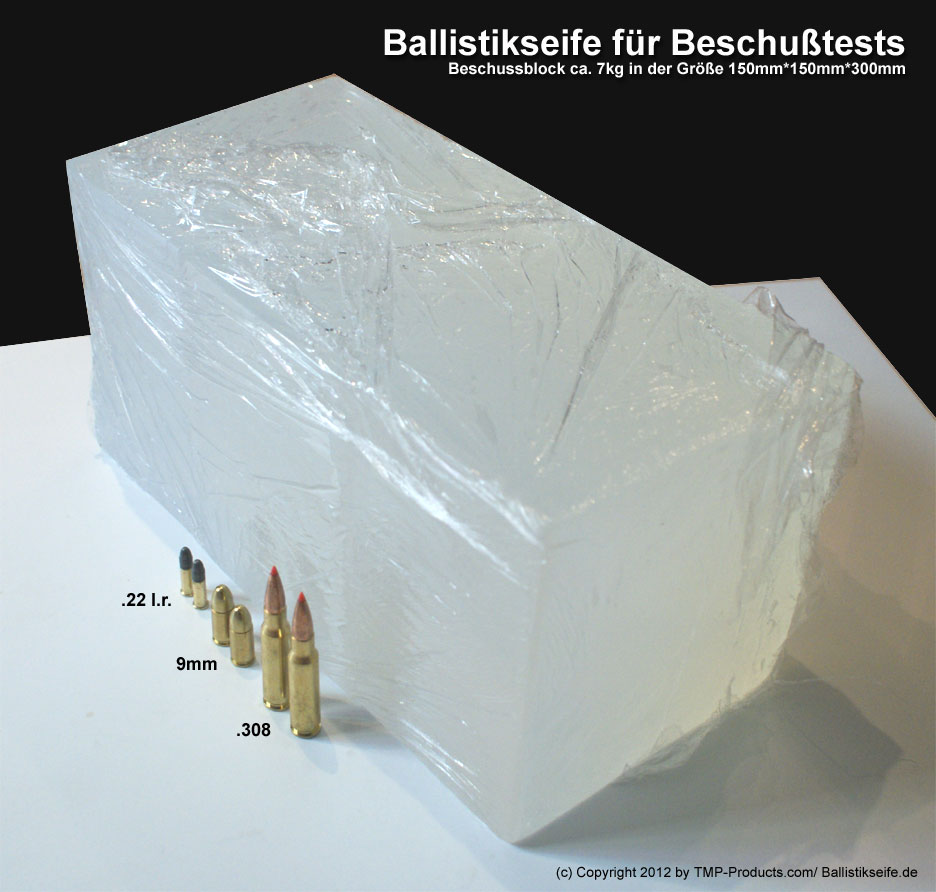 Ballistikseife Ballistik Seife Beschussseife Glycerinblock Ballistik